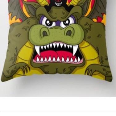 Danzig Riding a Dragon Throw Pillow