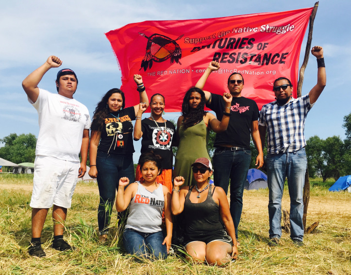 The Red Nation delegation at the #NoDAPL camp