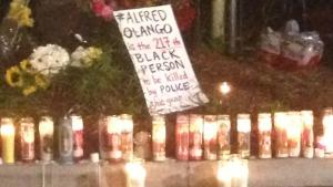 The memorial for Alfred Olango in El Cajon, California.