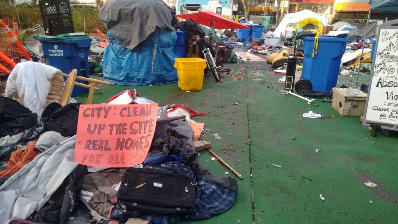 Demands from the tent city to the city released after the court rejected the injunction
