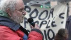 Harold Lavender speaking at a DTES march