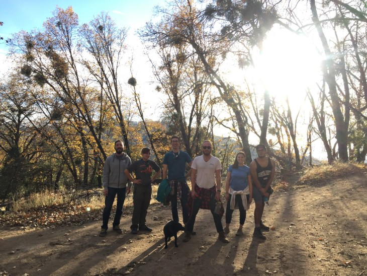 Friends camping at Palomar mountain