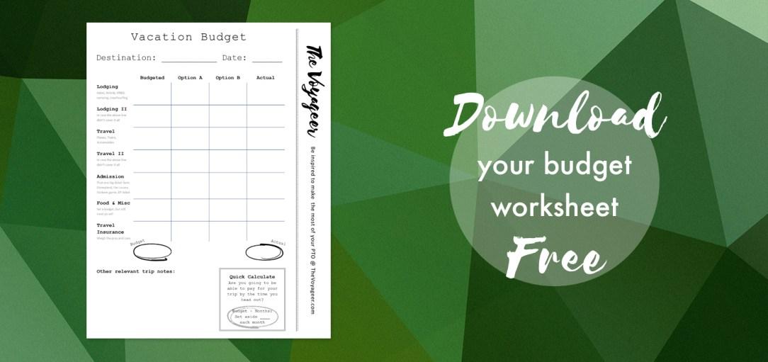 Budget Sheet Download