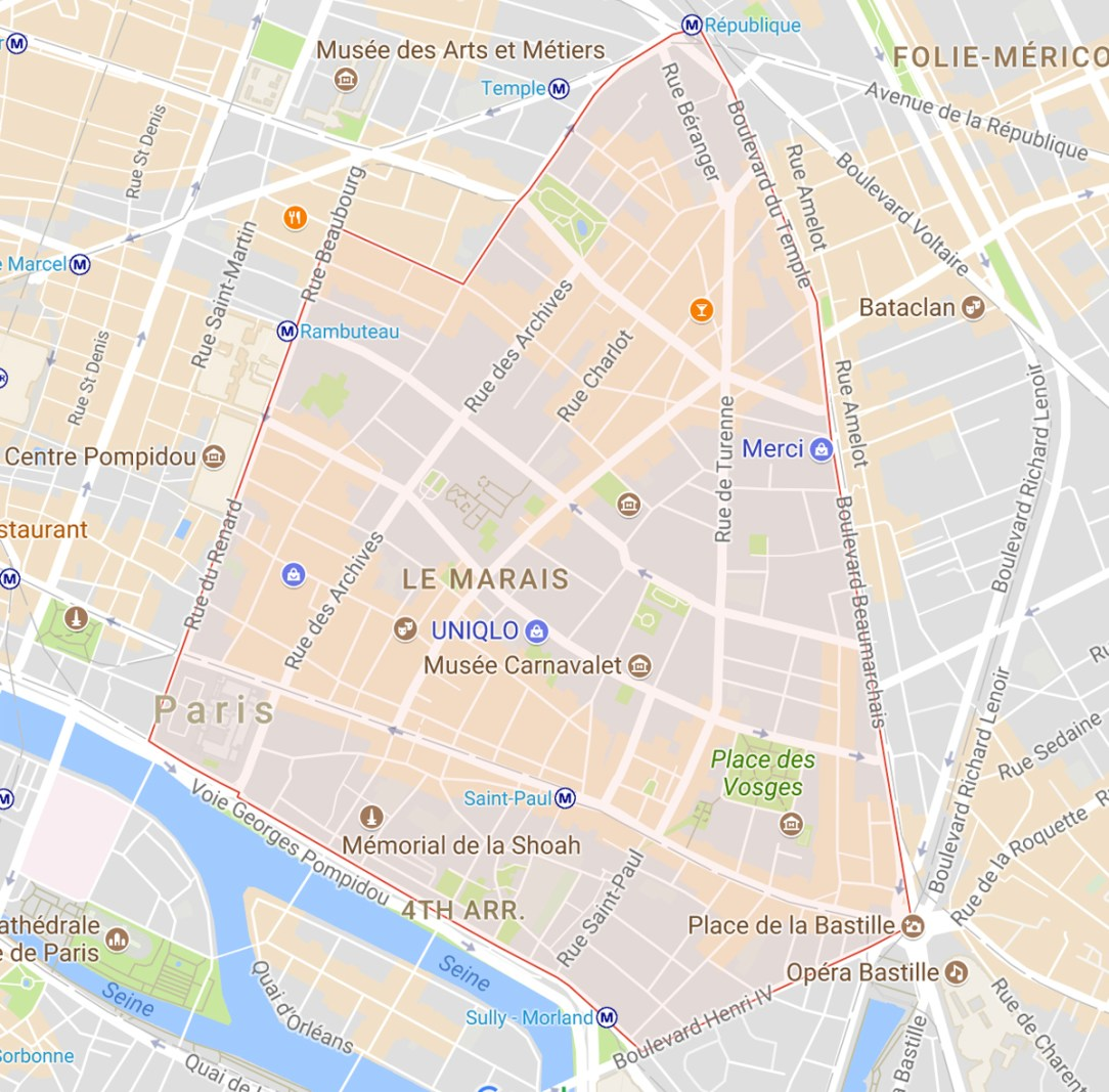 Le Marais Map