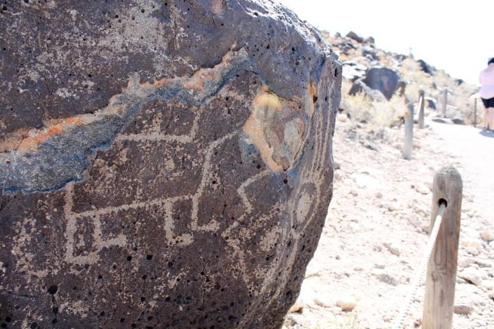 Ancient petroglyph in Albuquerque