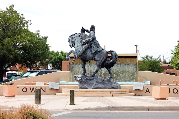 Wild West statue in Albuquerque