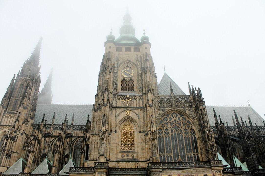 Prague Castle in the Mist