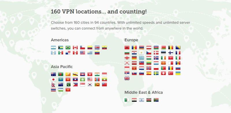 ExpressVPN Server Locations
