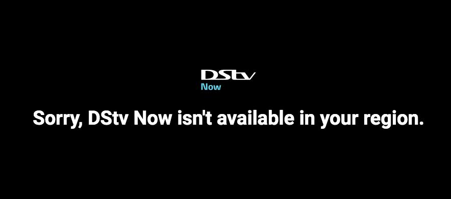 DSTV Error