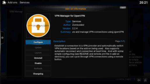 Click Configure VPN