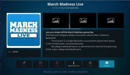 Install March Madness Live