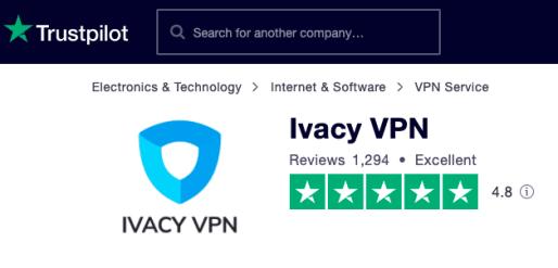 Ivacy Trustpilot