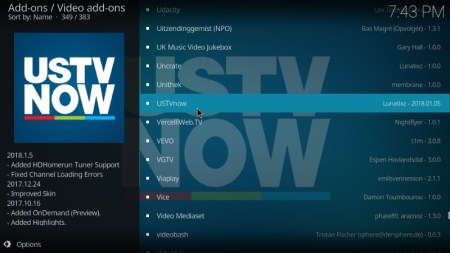 USTV Now Add-On