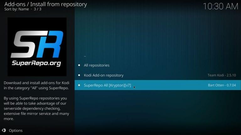 How to Install Superrepo on Kodi 17.3 Krypton