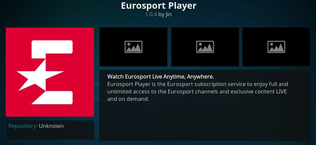 How to Install Eurosport Player on Kodi