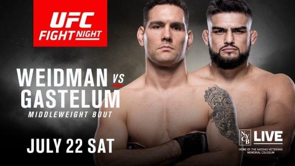 Stream UFC Long Island Weidman vs Gastelum Live Online