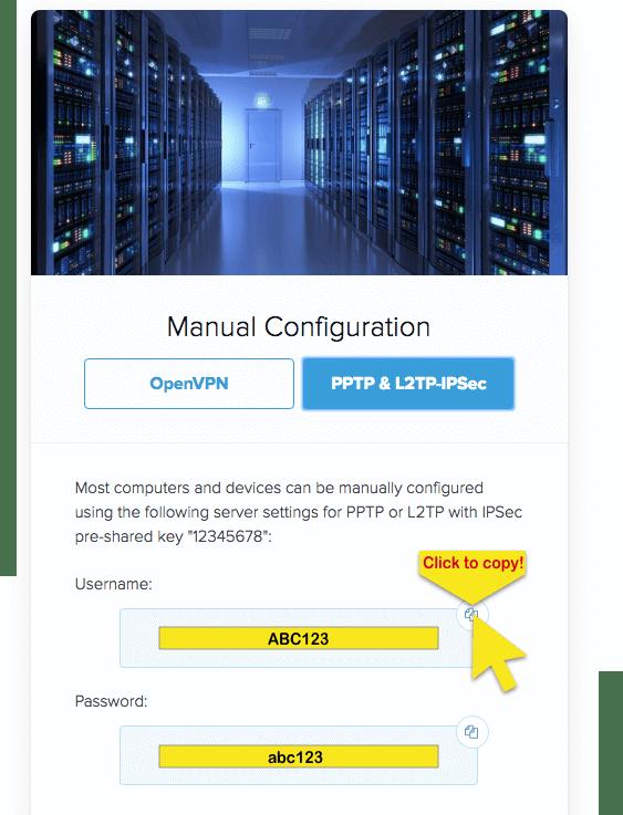 Copy PPTP/L2TP Info