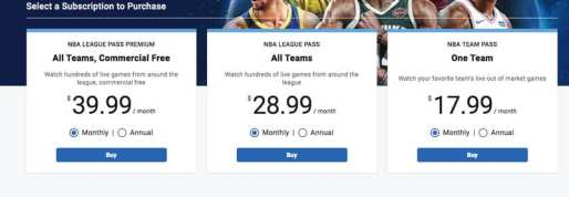 NBA League Pass Subscription