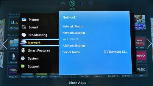 Samsung Smart TV DNS