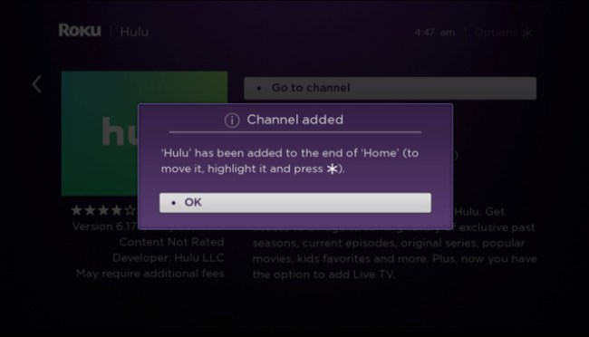 Hulu add channel