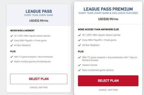 NBA Game Pass Prices