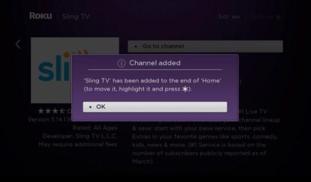 Sling TV added