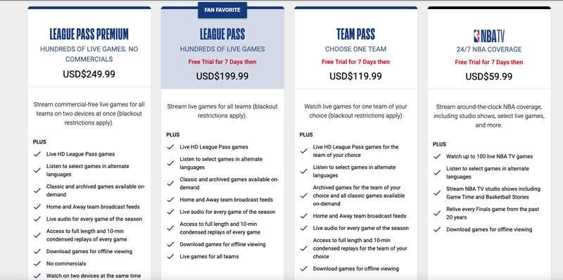 League Pass NBA New