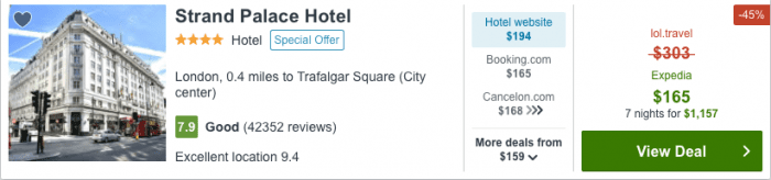 Hotel Reservation from Paris