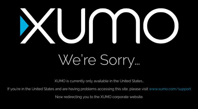 Xumo error message