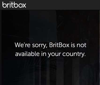 Britbox Error