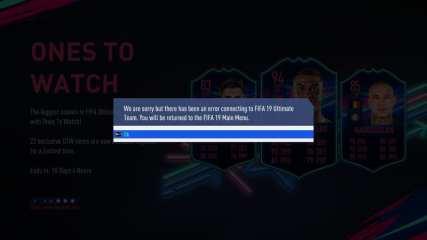 FIFA 19 Error