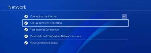 Internet Connection PS4