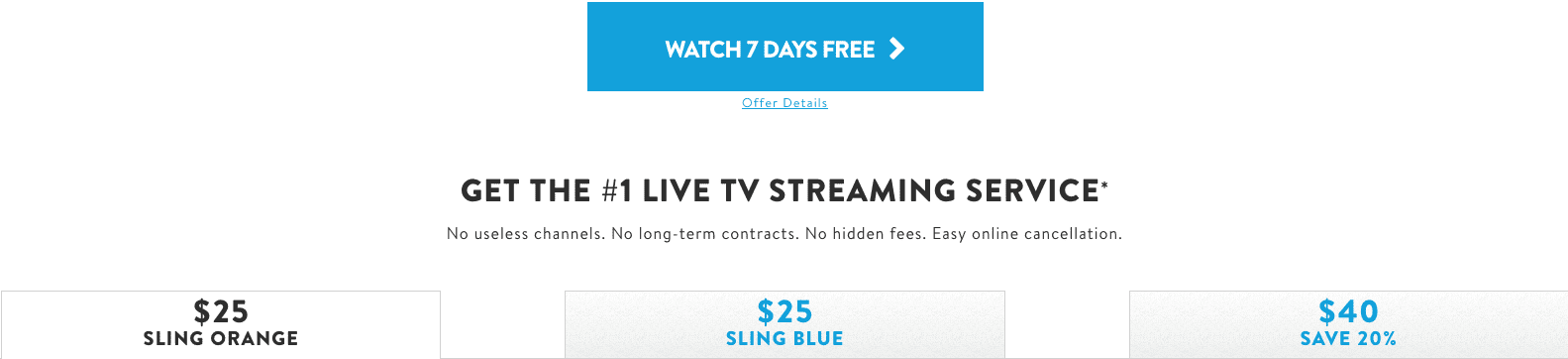 Sling TV Subscription