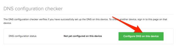 Configure DNS on Device