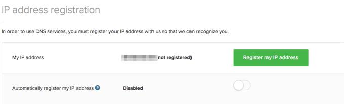 IP Address Registration