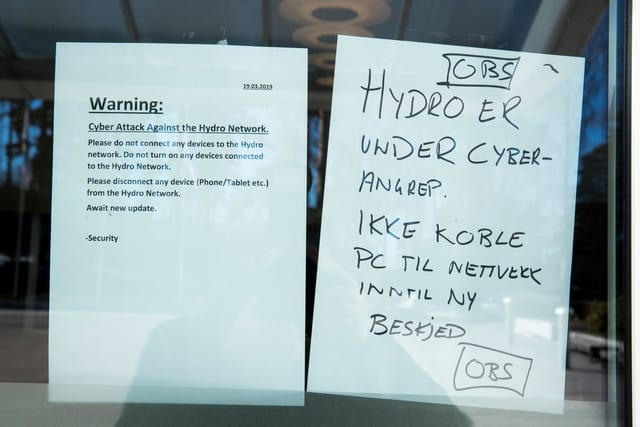 Norsk Hydro, Victim of Ransomware Attack