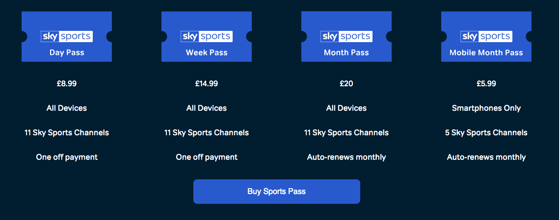 NowTV Sky Sports