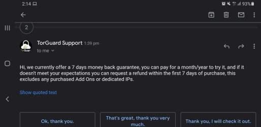 Refund Support