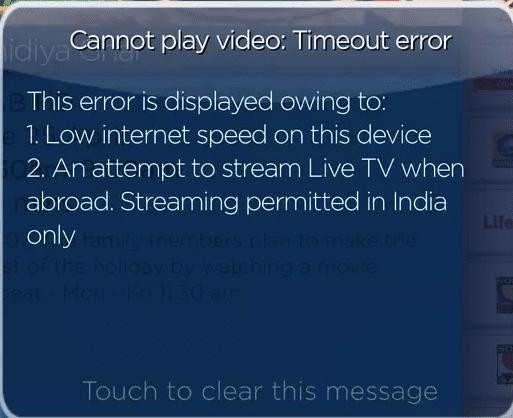 Tata Sky Error