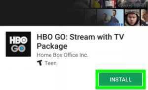 Install HBO Go