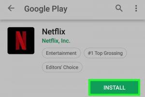 Netflix installation