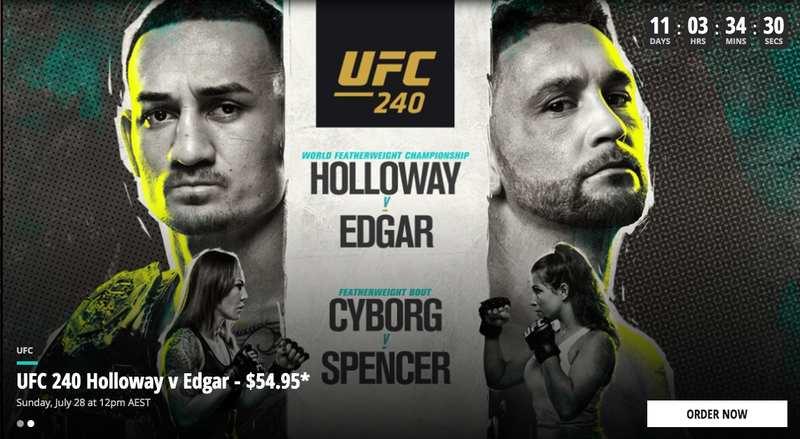 UFC 240 in Australia