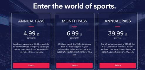 EuroSport Player Subscription