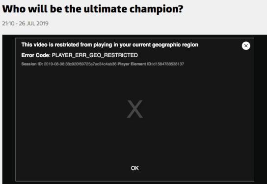 The Champions Error Message