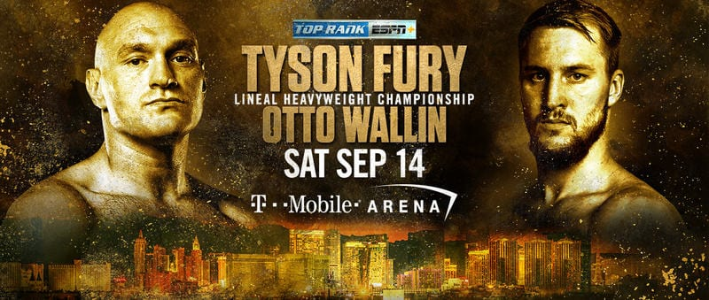 How to Watch Tyson Fury vs. Otto Wallin Live Online
