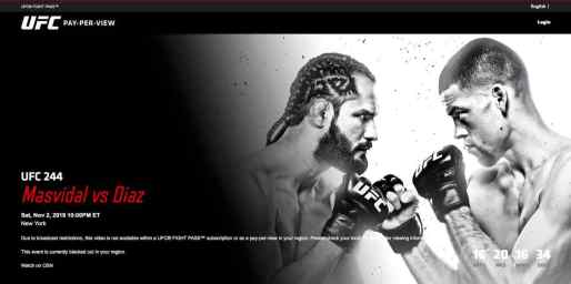 UFC 244 in the Middle East