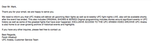 UFC Arabia Reply