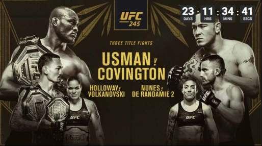 UFC 245 in Australia