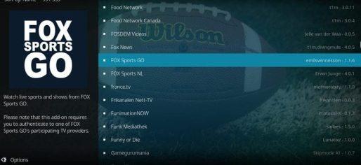 Choose Fox Sports Go