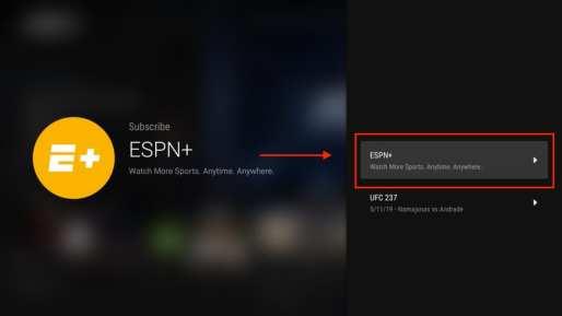 ESPN+ Subscription FireStick